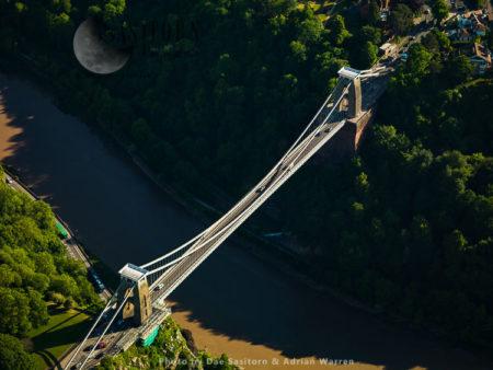 Clifton Suspension Bridge Over The Avon River, Bristol, Somerset