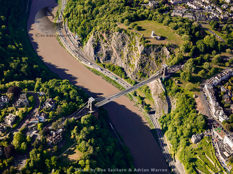 Clifton Suspension Bridge Over The Avon River, Avon Gorge, Bristol, Somerset