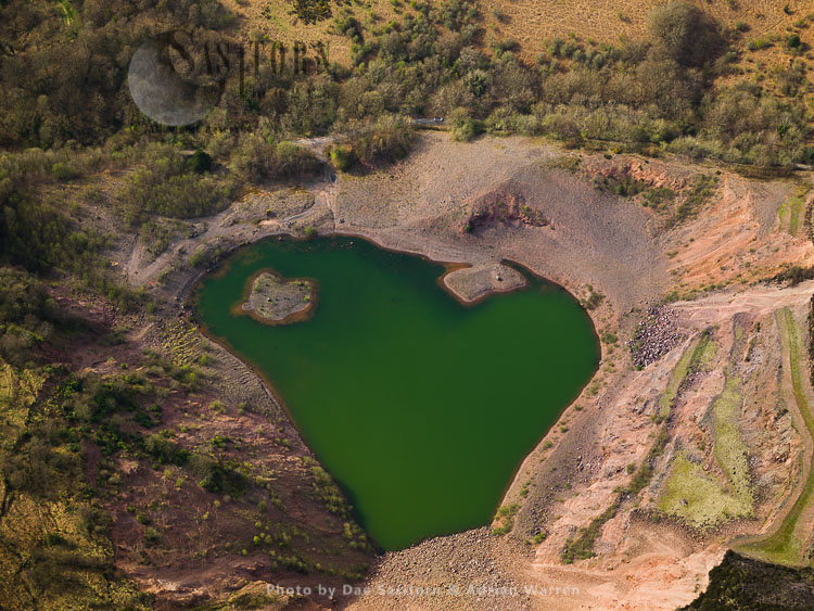 Old Tarmac's Triscombe Quarry, Close In 1998, Triscombe, Somerset