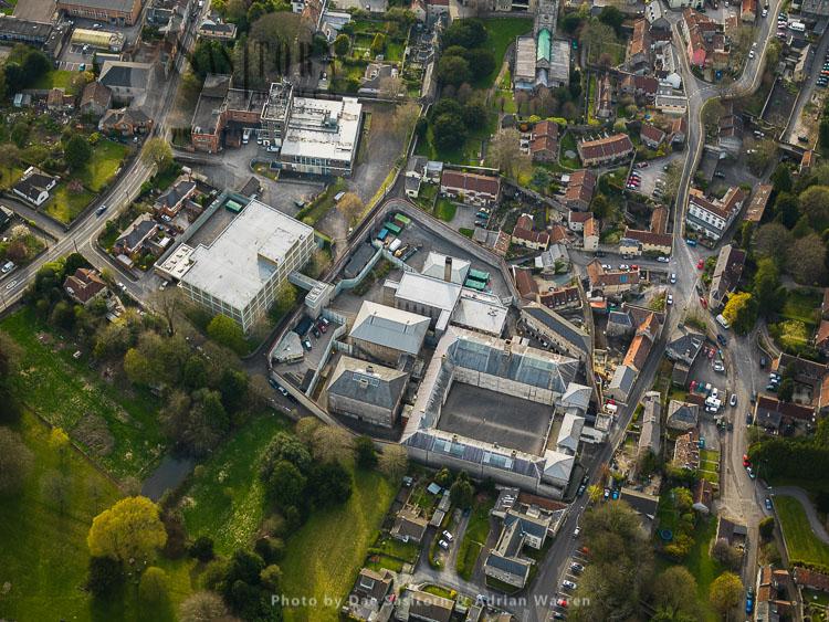 Former HM Prison Shepton Mallet (Cornhill), Somerset, England, UK