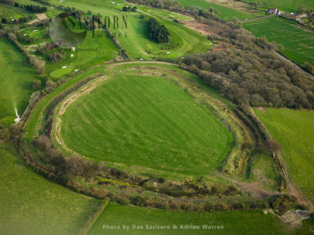 Maesbury Castle Hill Fort, Somerset, England