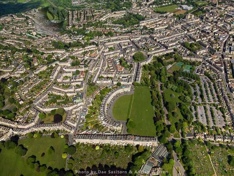 Royal Crescent and Circus, City of Bath, Somerset