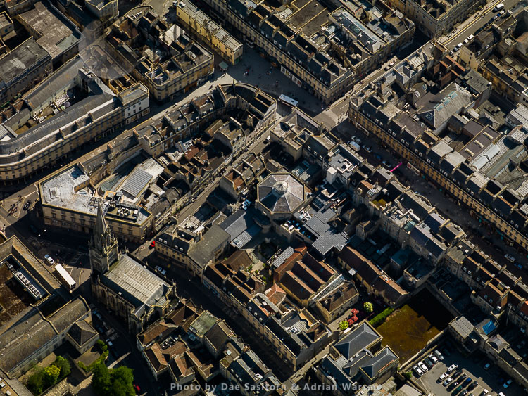St Michael's Church And High Street, City Of Bath, Somerset,