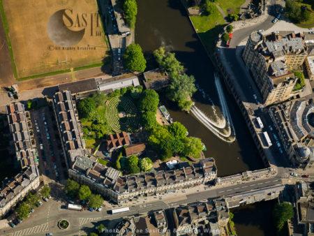 Beazer Maze And Pulteney Bridge, Bath, Somerset