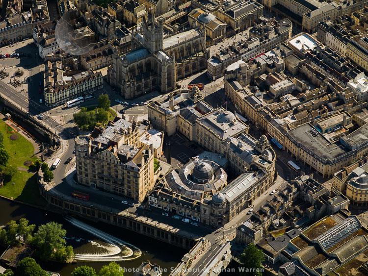 Bath Guildhall Market and Bath Abbey, Bath, Somerset