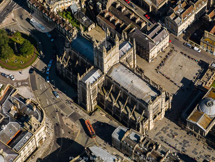 Bath Abbey And Roman Baths, Bath, Somerset, England