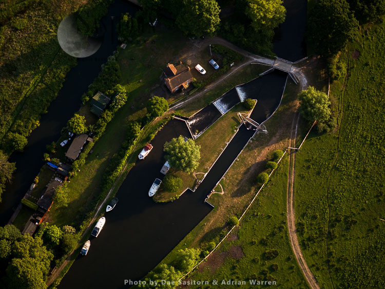 Papercourt Lock on the River Wey, near Send, Surrey