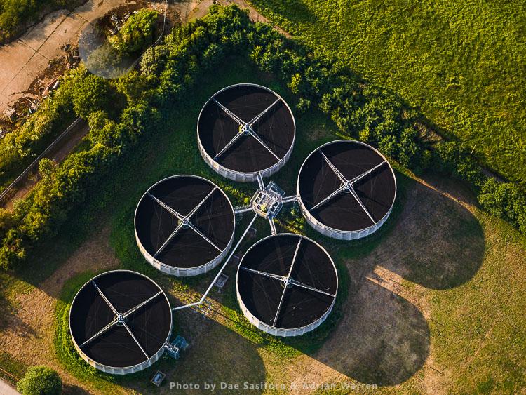 Sewage Works, Woking, Surrey, England