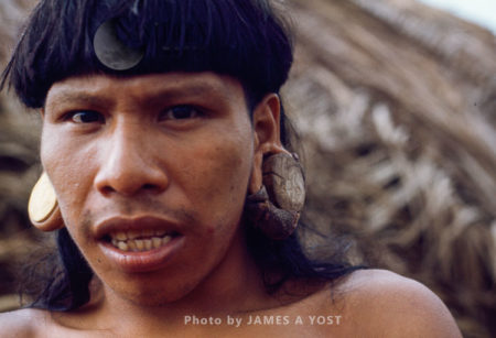 Waorani Indians, Stretching Earlobes To Their Size In A Month Often Causes Infection And Tears In The Lobe, Gabado, Ecuador, 1973