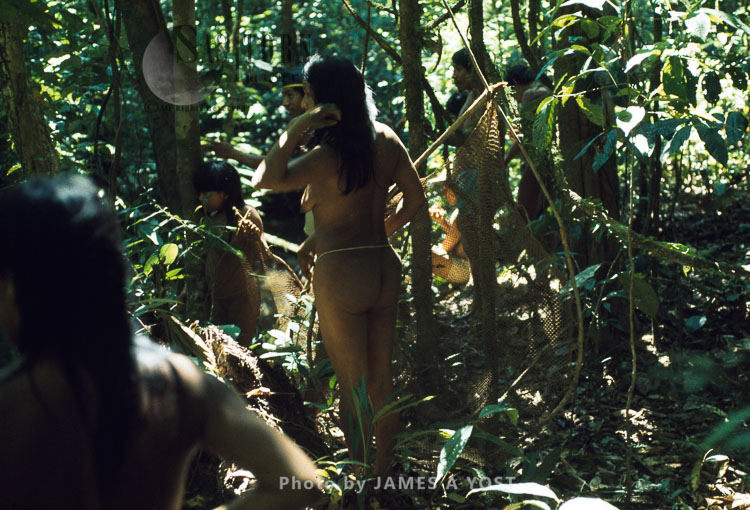 Waorani Indians, Near Rio Cononaco, Ecuador, 1973