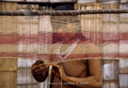 Waorani Indians: A Hammock Can Require As Much As A Mile Of Chambira Twine, Tewaeno, 1975, Ecuador