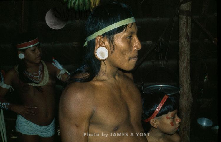 Waorani Indians: The Balsa Labrets Are Both A Symbol Of Waorani Heritage And For Beauty, Gabado, 1974, Ecuador