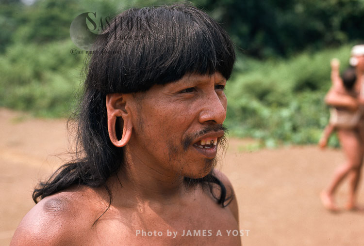 Waorani Indians: Years Of Carrying Spears And Blowgun On The Shoulder Produces Tough Callouses, Gabado, 1975, Ecuador