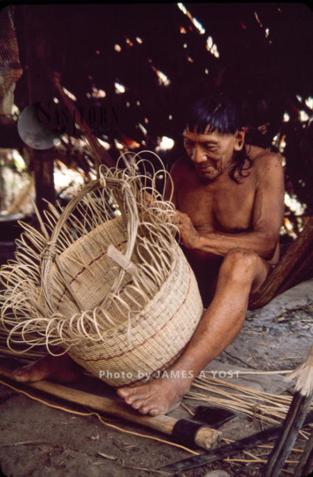 Waorani Indians: In Some Communities The Men Make The Baskets; In Others, The Women Do, Kiwado, 1980, Ecuador