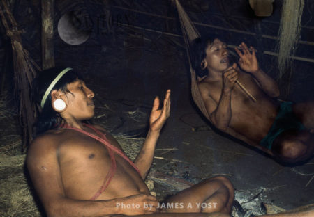 Waorani Indians: Menga Regales A Visitor With A Hunting Story, Gabado, 1974, Ecuador