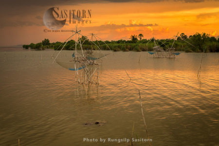 Fishing At Ban Pak Pra, Phatthalung Province, Thailand