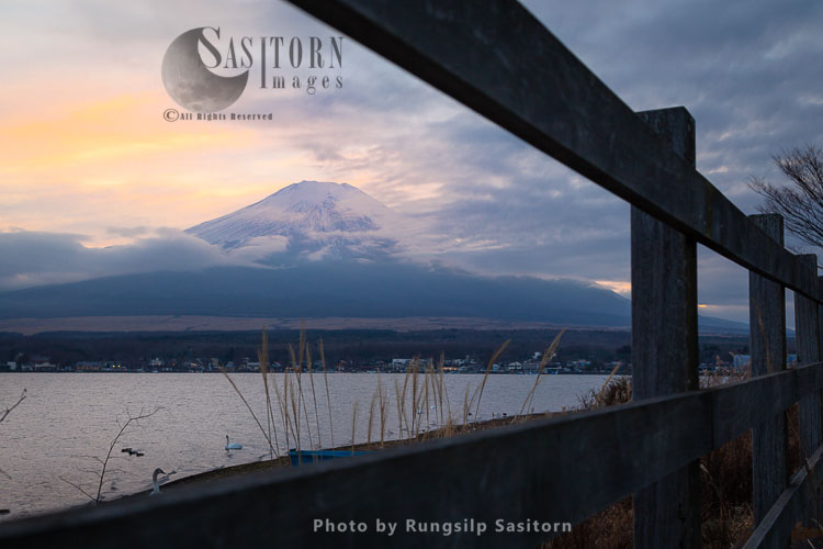 Mount Fuji ( Fuji-san In Japanese)  Is The The Symbol Of Japan And  Highest Peak In The  Volcanic Chain In Central Japan.