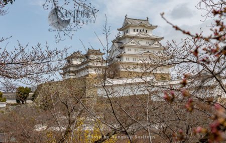 Himeji Castle, Also Called White Heron Castle (Shirasagijo), A Japanese National Treasure And A World Heritage Site.