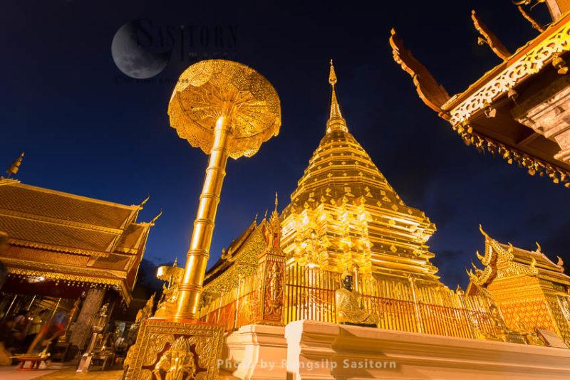 Wat Phrathat Doi Suthep, on the summit of Doi Suthep mountain, outskirts of Chiang Mai,Thailand