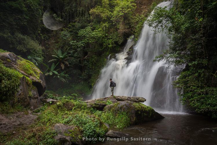 Pha Dok Siew Waterfall, Doi Inthanon National Park, Chiang Mai Thailand.