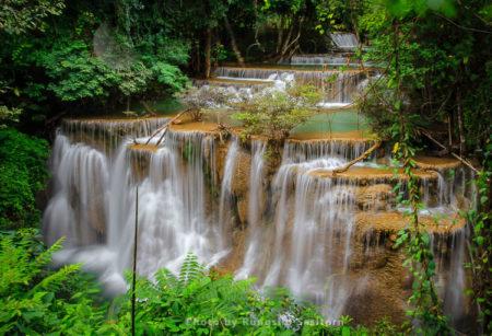 The Pha Charoen Waterfall,  97-level Stair-stepping Waterfall, Charoen National Park, Tak, Northwestern Thailand