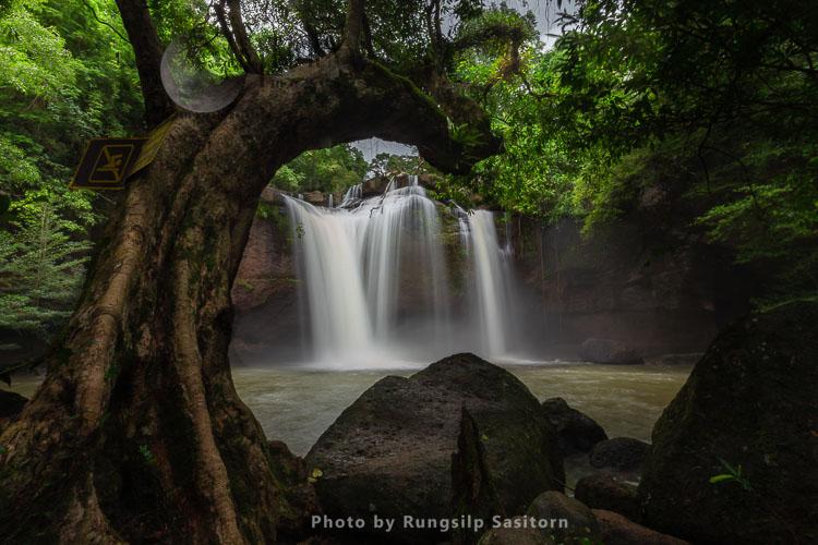 Haew Suwat Waterfall, Khao Yai National Park, Nakhon Ratchasima, Thailand.