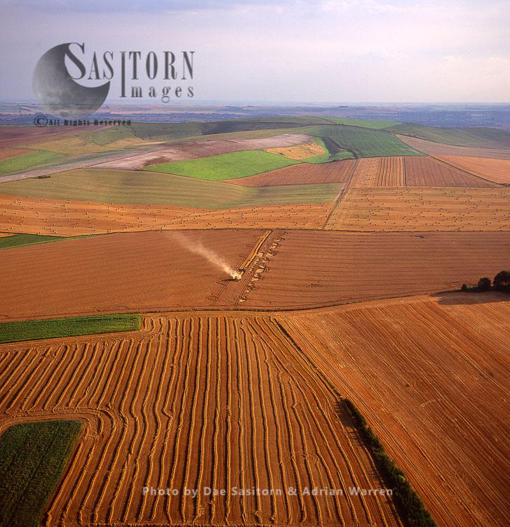 Hay Harvesting, Wiltshire, England