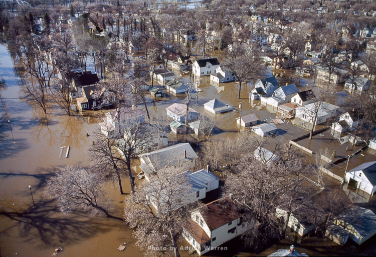 Floods From The Red River At Grand Forks 2006, North Dakota, USA