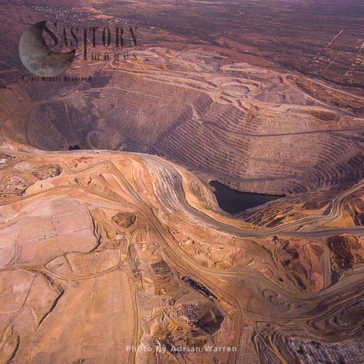 Aerial Of Asarco Mission Complex Copper Mine, Tucson, Arizona, USA