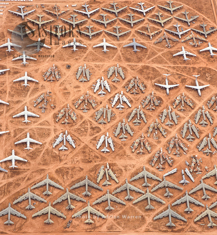 The Boneyard: Aerospace Maintenance And Regeneration Group  (AMARG) At Davis-Monthan Airforce Base, Tucson, Arizona, USA