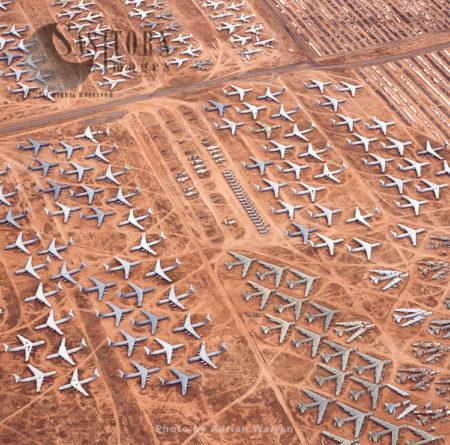 The Boneyard: Aerospace Maintenance And Regeneration Group  (AMARG) At Davis-Monthan Airforce Base, Tucson, Arizona, USA