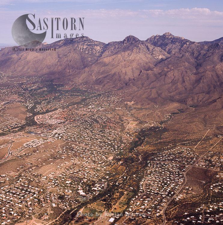 Suburb Of Tucson, Arizona, USA. Aerial (Oblique)
