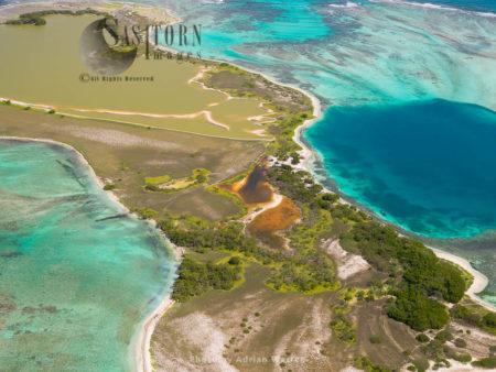 Medio, One Of Cayos Francisqui Group Of Islands In Los Roques Archipelago, Caribbean Sea, Venezuela