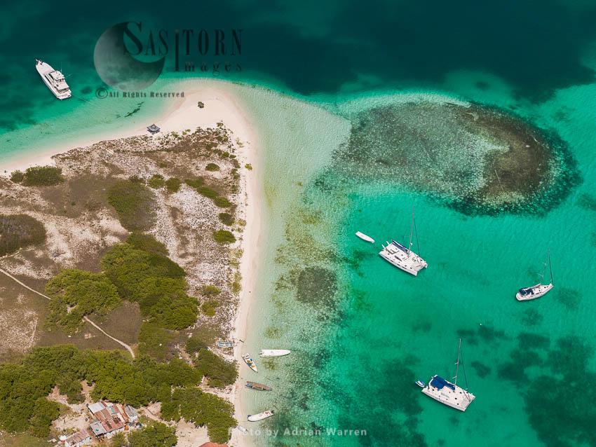 Abajo, One Of Cayos Francisqui Group Of Islands In Los Roques Archipelago, Caribbean Sea, Venezuela