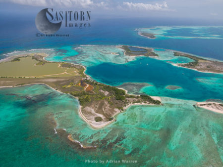 Medio, And Other Cayos Francisqui Group Of Islands In Los Roques Archipelago, Caribbean Sea, Venezuela, South America