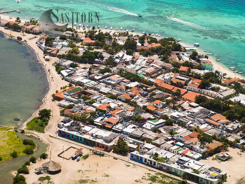 Housing, Gran Roque, The Main Island Of Los Roques Archipelago, Caribbean Sea, Venezuela