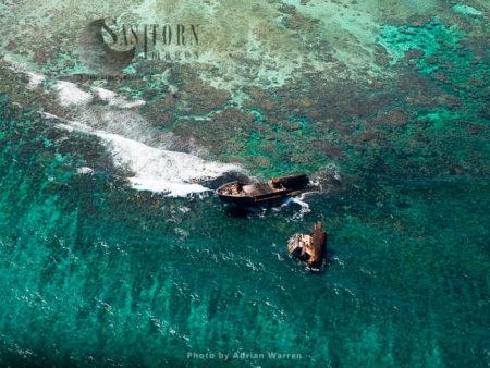 Shipwrecks, Near Cayo Sardina, Los Roques Archipelago (islands), A National Park Of Venezuela, Caribbean Sea, South America