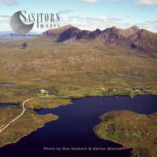 Loch Assynt, Freshwater Loch In Sutherlandshire, Highlands, Scotland