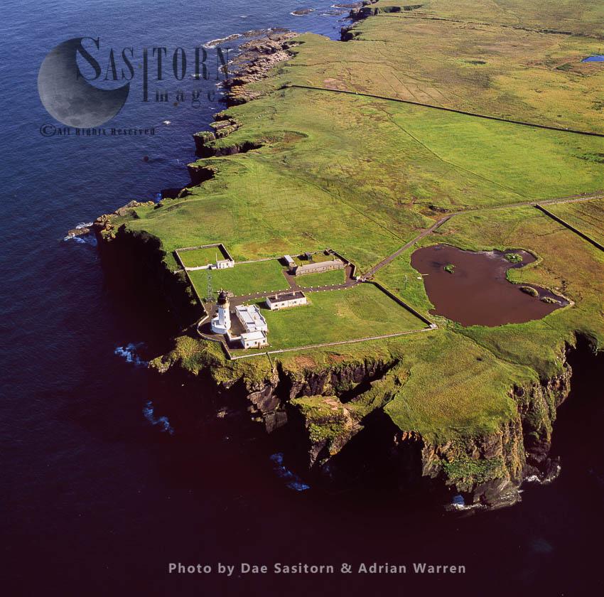 Noss Head Lighthouse, Near Wick, Caithness, Highlands, Scotland