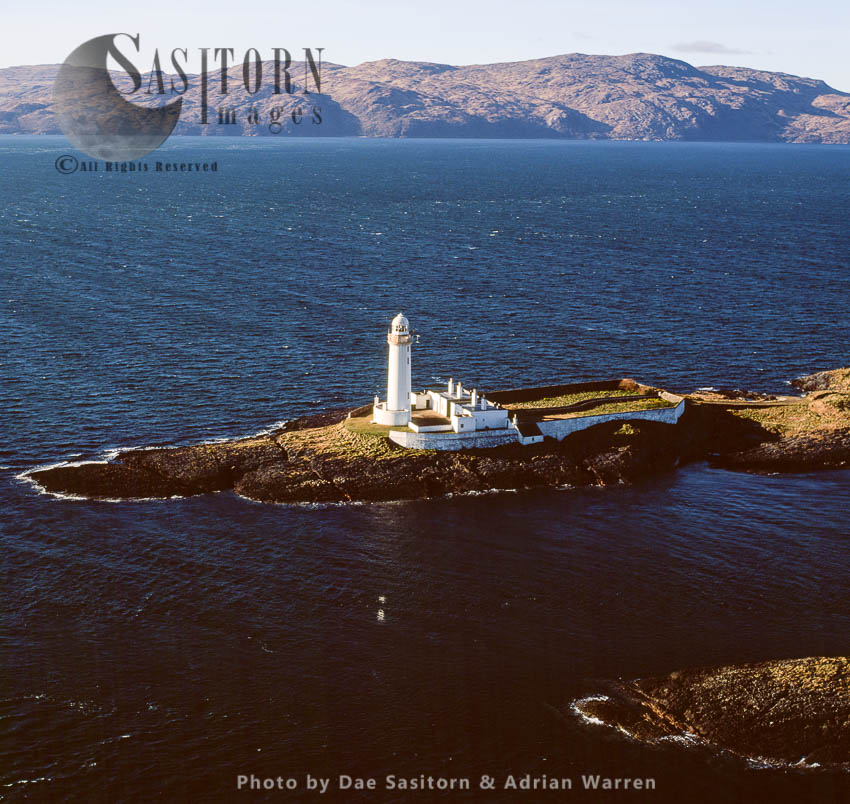 Eilean Musdile Lighthouse, Southern Tip Of The Isle Of Lismore, Sound Of Mull, Scotland