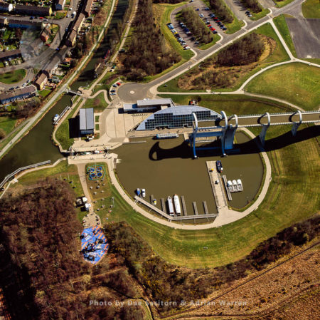 The Falkirk Wheel, Falkirk, Scotland, A Rotating Boat Lift Connecting The Forth And Clyde Canal With The Union Canal, Scotland