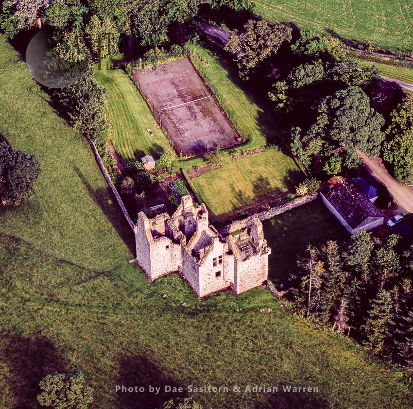 Glenbuchat Castle,  On The  River Don, Near Kildrummy, Aberdeenshire, Scotland
