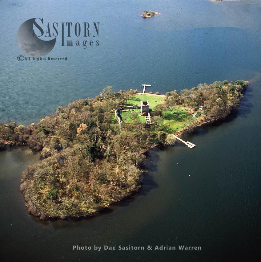 Loch Leven Castle (Lochleven Castle), On An Island In Loch Leven, Perth And Kinross Region, Lowlands, Scotland