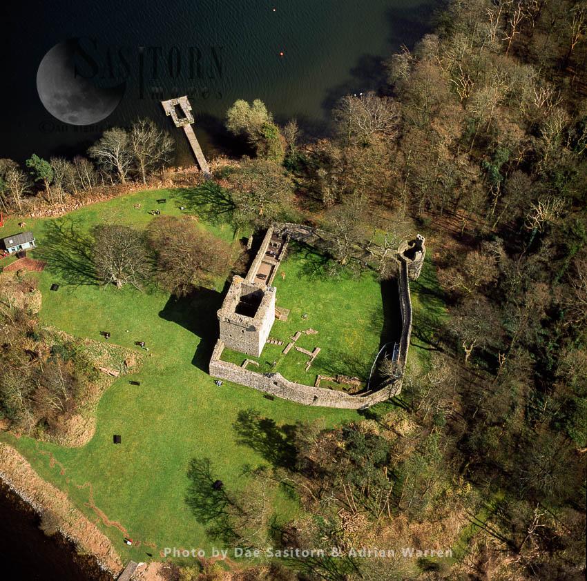 Loch Leven Castle (Lochleven Castle), On An Island In Loch Leven, Perth And Kinross, Lowlands, Scotland