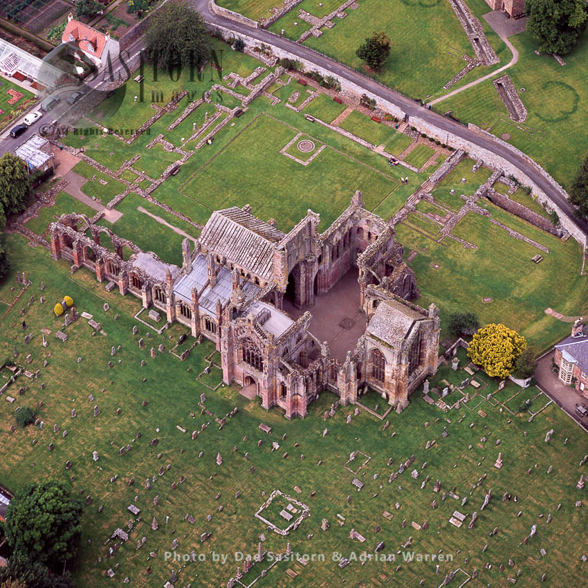 Melrose Abbey, A Gothic-style Abbey In Melrose, Lowlands, Scotland