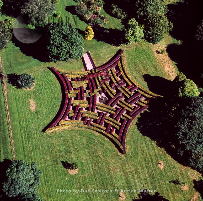Maze At Scone Palace, Scone, Near Perth, Lowlands, Scotland