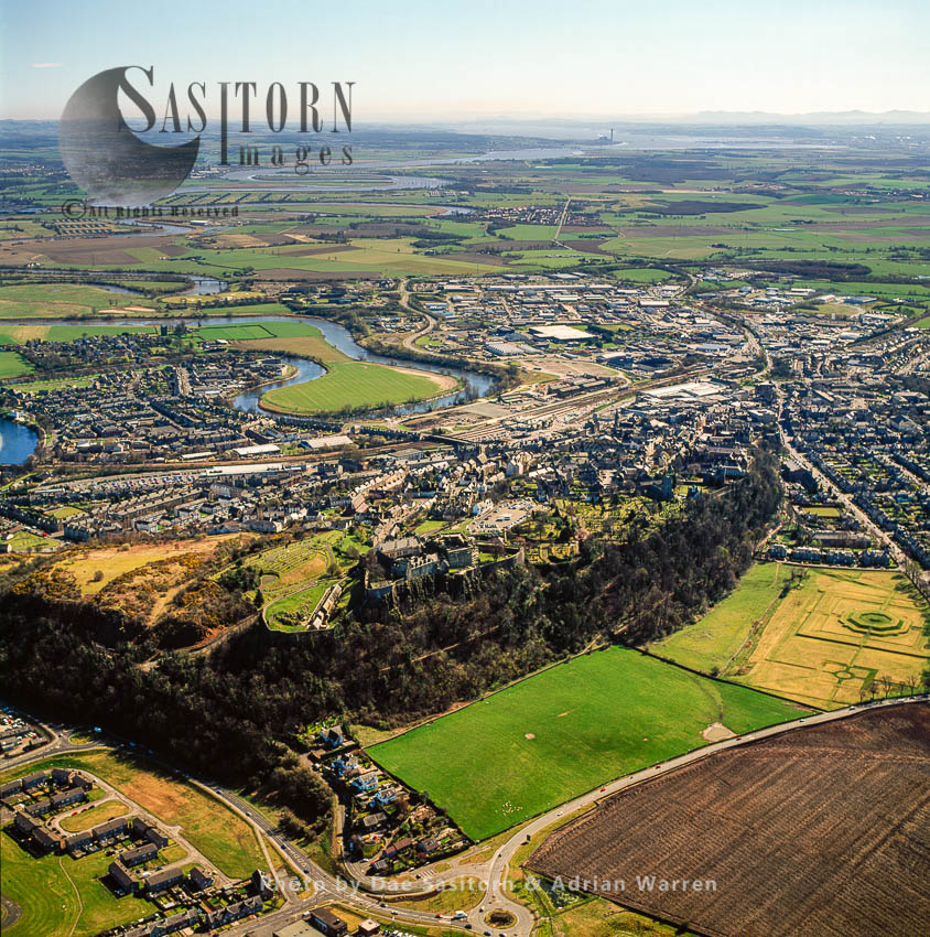 Stirling Castle, Stirling, Sits Atop The Castle Hill, A Volcanic Crag, Scotland