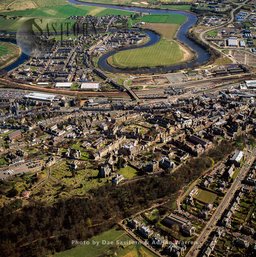 Stirling, Sits Atop The Castle Hill, A Volcanic Crag, Lowlands, Scotland