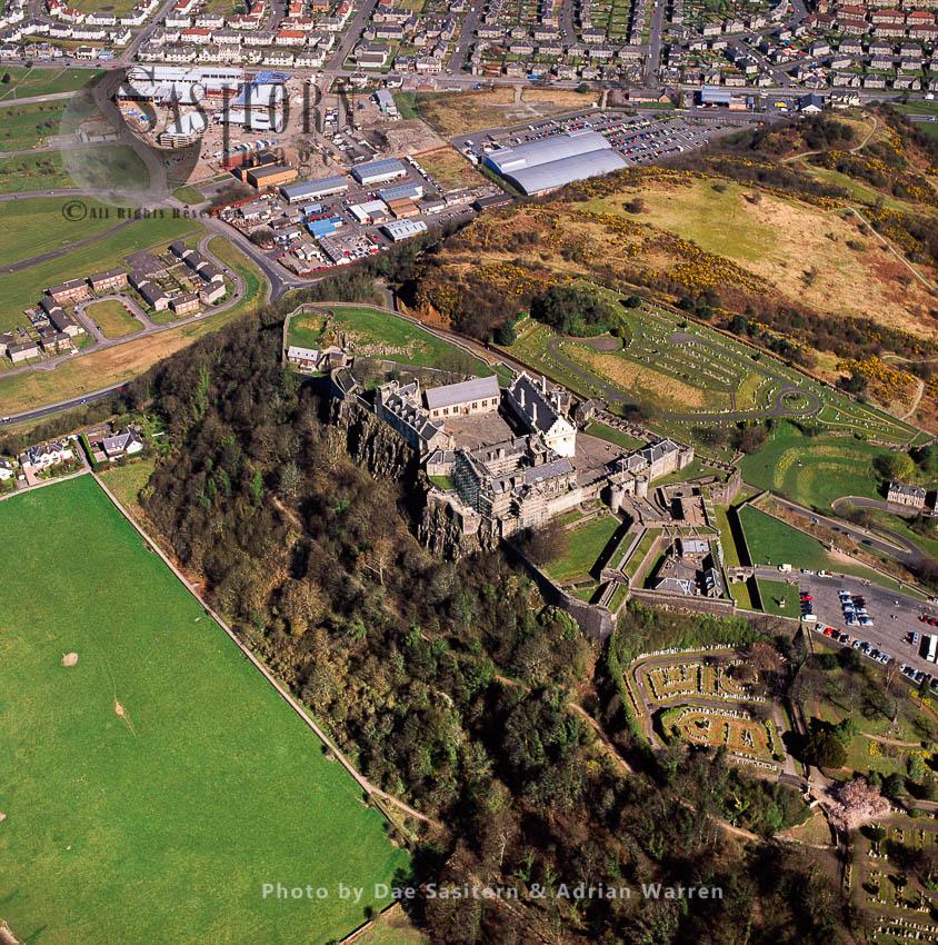 Stirling Castle, Stirling, Sits Atop The Castle Hill, A Volcanic Crag, Lowlands, Scotland