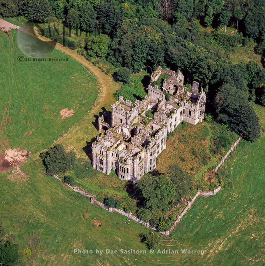 Ury House, A Ruined Elizabethan Style Large Mansion, Near Stonehaven, Aberdeenshire, North-East Coast Of Scotland
